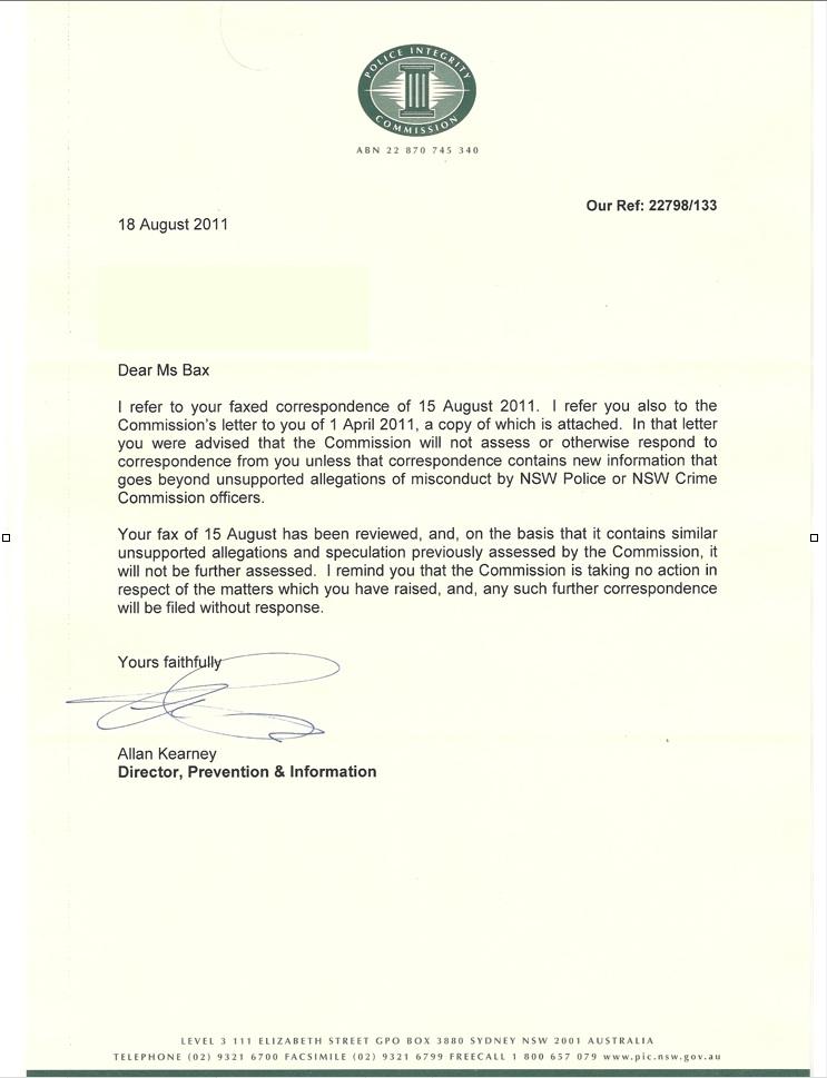 Sunday April 8 2012 Schapelle Corby A Formal Complaint