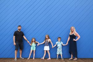 Amanda and her husband Anthony with Lucia, Georgia and Roman